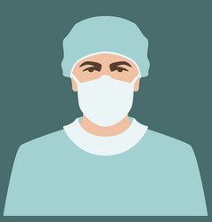 Doctor in mask flat style vector