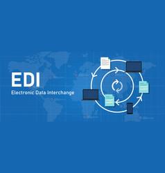 edi electronic data interchange software system vector image