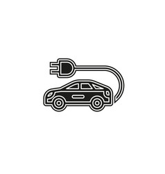 electro car icon logo element vector image