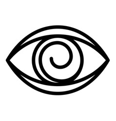Eye hypnosis icon outline style vector