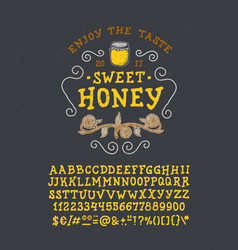 Font honey handmade type vector