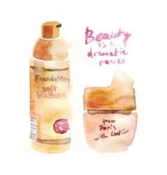 Glamorous make up watercolor cosmetics vector image vector image