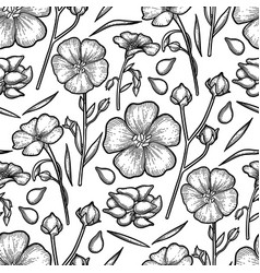 Graphic linen pattern vector