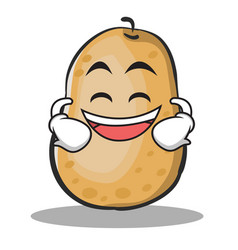 Grinning potato character cartoon style vector