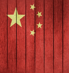Grunge Flag Of China vector