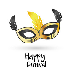 Happy brazilian carnival day grey and golden vector