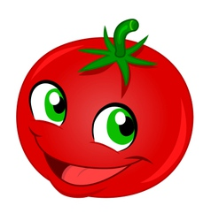Happy tomato vector