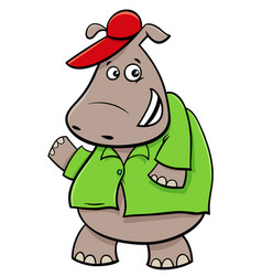 hippopotamus cartoon character vector image