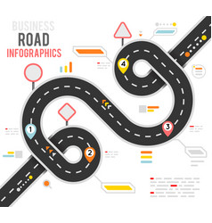 Info business plan navigation loop bend road way vector