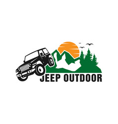 jeep car logo design vector image