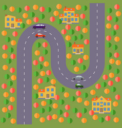 landscape with the road vector image