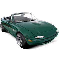lightweight two-seater roadster vector image