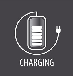 logo and battery cable with plug vector image