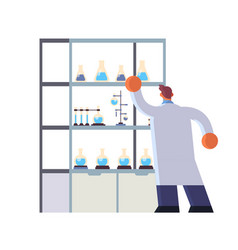 male doctor laboratory scientist in white coat vector image