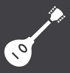Mandolin glyph icon music and instrument vector