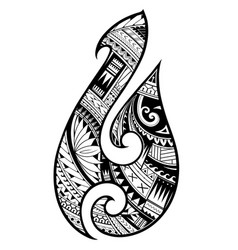 Maori style tattoo aboriginal fish hook symbol vector