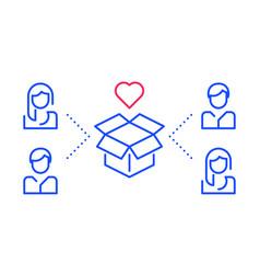 New product development team work concept vector
