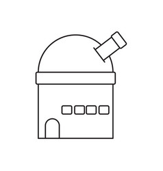 Observatory line icon vector