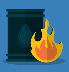 Oil barrel petroleum icon image vector