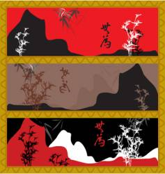 oriental style scenery vector image