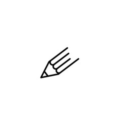 pencil icon logo line outline monoline vector image