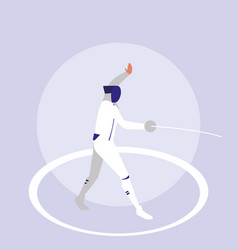 person practicing fencing avatar character vector image