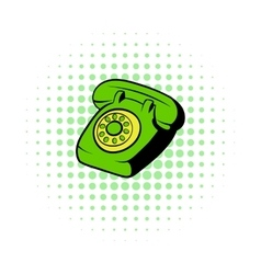 Phone comics icon vector