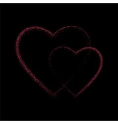 Pink glitter heart vector