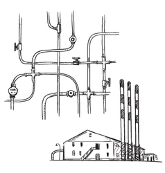 power plant vector image