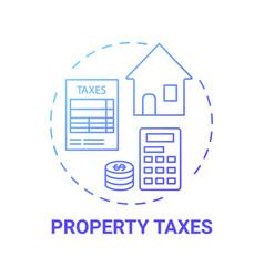 Property taxes concept icon vector