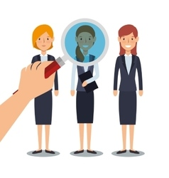 Recruitment human resources icon vector