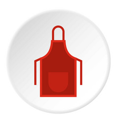 Red apron icon circle vector
