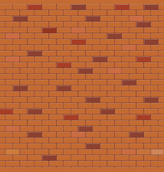red brick wall abstract background vector image