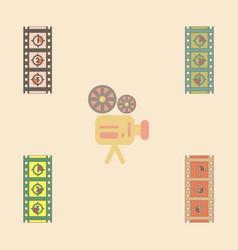 Retro movie frame collection vector
