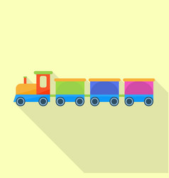 retro toy train icon flat style vector image