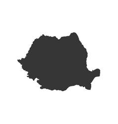 Romania map silhouette vector