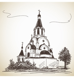 Russian Orthodox Church vector image