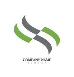 s letter logo business template vector image