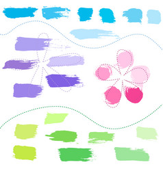 set of hand drawn colorful design elements vector image