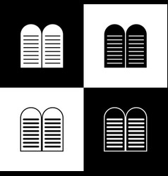 Set the commandments icon isolated on black vector