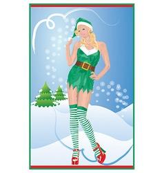 Sexy Christmas vector image