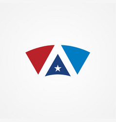 Shape star america logo vector