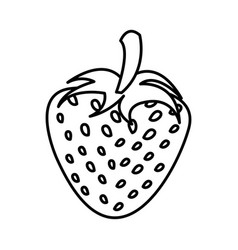 Silhouette of strawberry fruit food icon vector