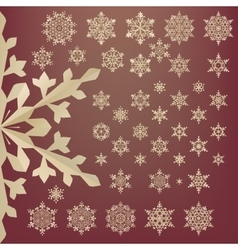 Snowflakes of old paper Retro style EPS 10 vector