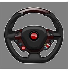 sport car steering wheel vector image
