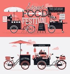 Street Food Festival Banner vector image