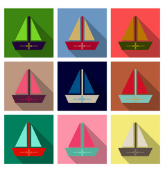Summer travel design - sail boat vector