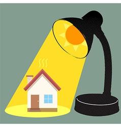 Sun Burn House vector image