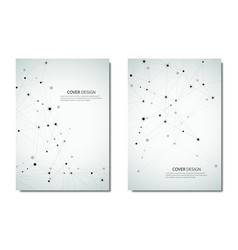 Technology and science brochure or cover vector