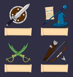 Template game character class warrior wizard vector